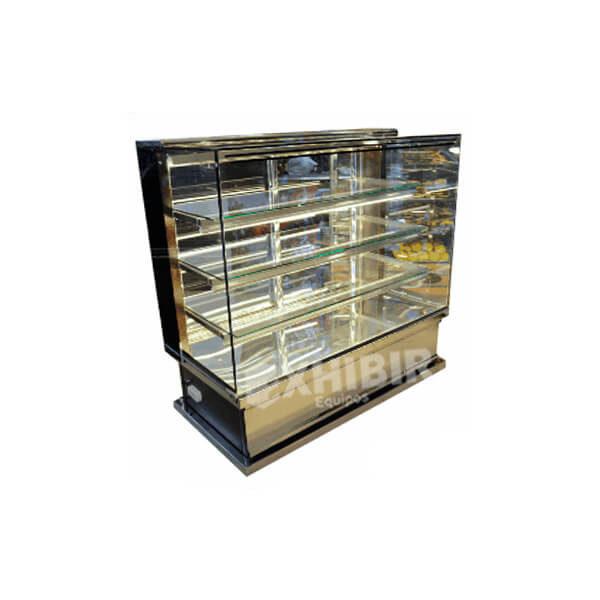 Vitrina horizontal para panaderia y pasteleria