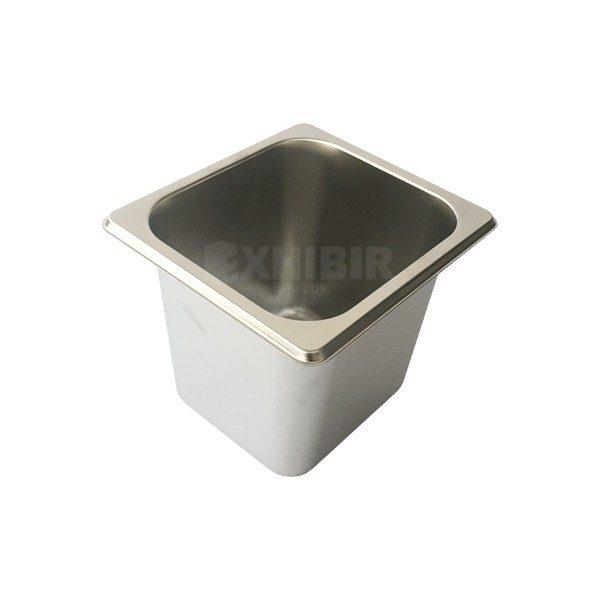 azafate en acero recipiente para comidas