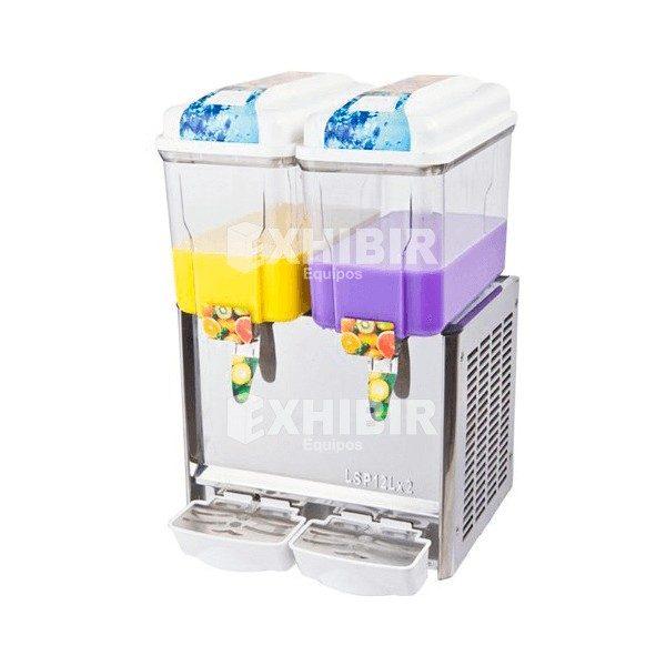 dispensador de bebidas frias 2 tanques cada uno de 12 litros