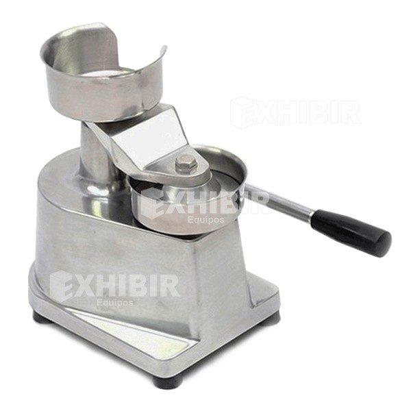 Maquina manual para hacer hamburguesas