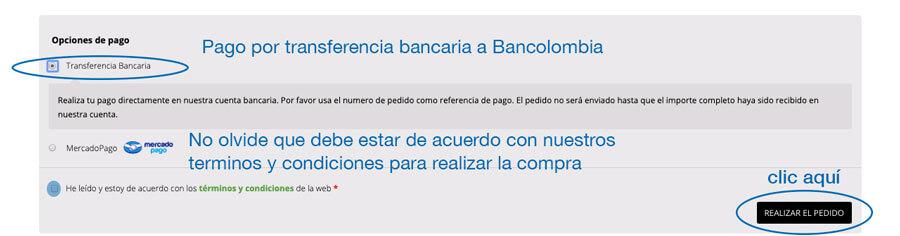 Pago por tranferencia Bancaria Exhibir