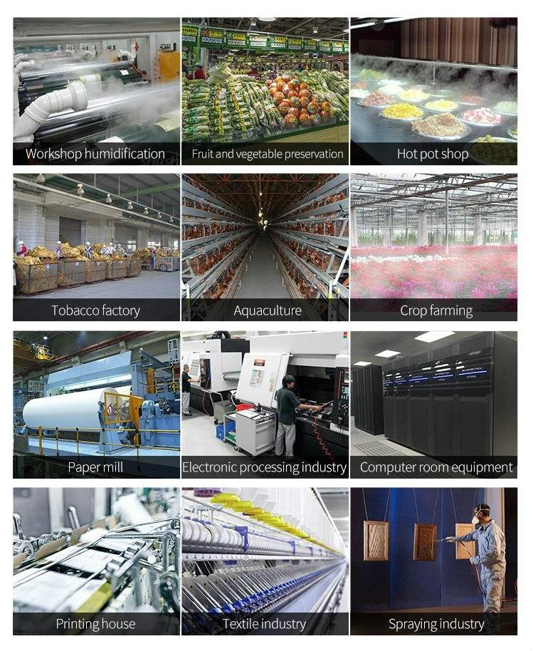 Aplicaciones de los humificadores industriales por ultrasonido en la industria, agricultura y avicultura
